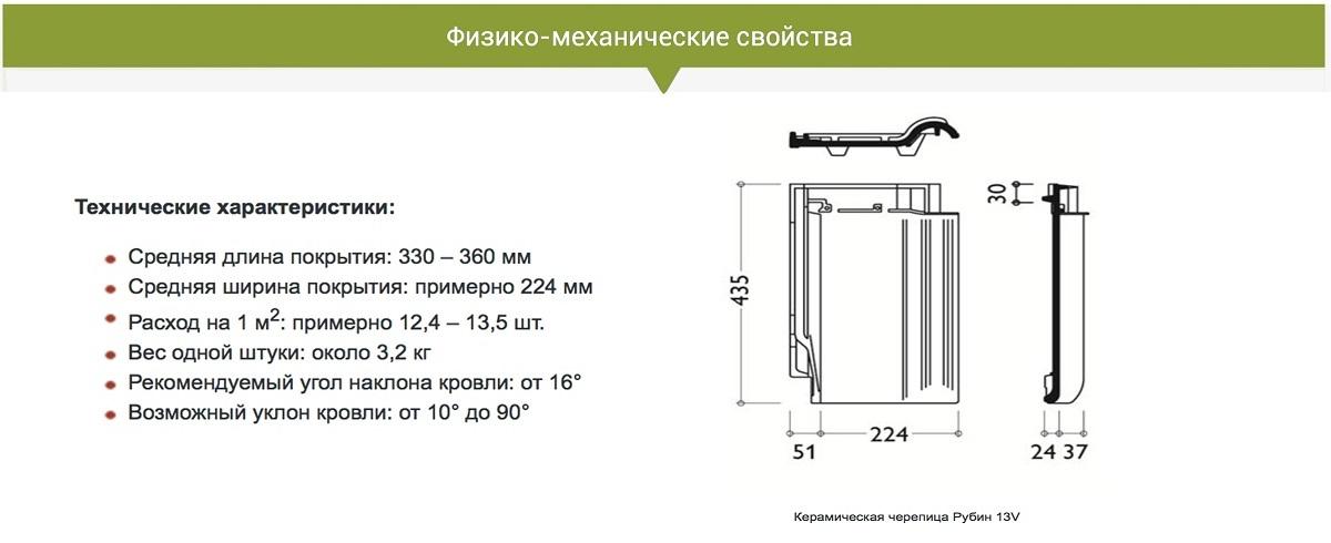 Характеристики Рубин 13V