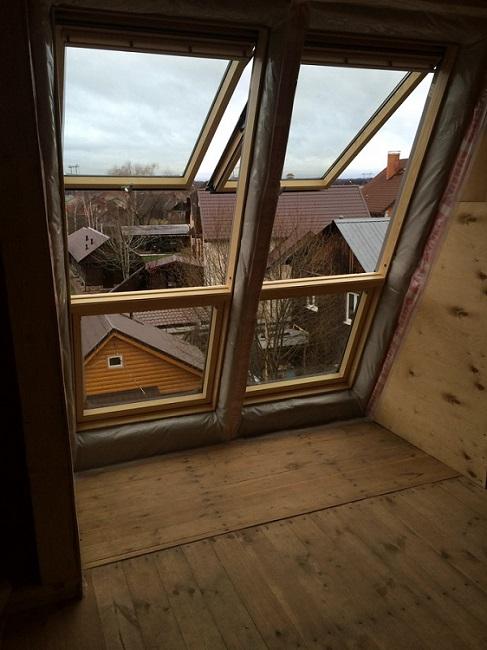 Монтаж окна-балкона в комбинации