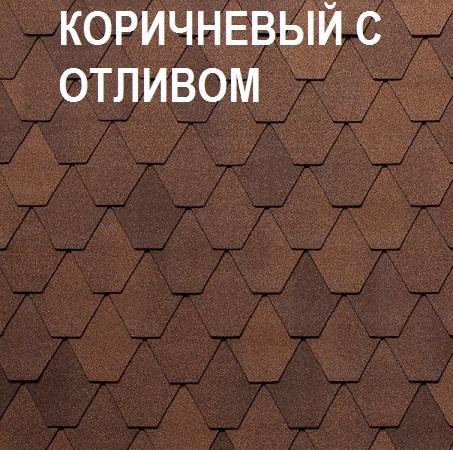 Tegola Лемех коричневый с отливом